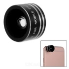 Universal Mini Magnetic 180-Degree Fish Eye Camera Lens for Cell Phone - Black