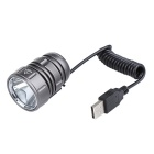 GagZZi 4.2V 4400mAh XM-L2 LED 1000lm 4-Mode Bicycle Lamp / Headlamp - Grey