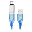 MAIKOU USB 3.1 Type C OTG Adapter + USB Charging Cable - Blue + Silver