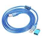 MAIKOU USB 3.1 Type C OTG Adapter + USB Charging Cable Set - Blue