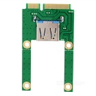 Full high / half high mini pci-e para cartão adaptador USB - verde
