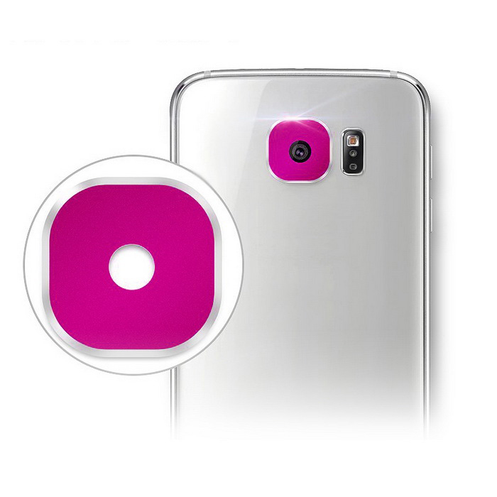 Hat-Prince Lens Cover for Samsung Galaxy S6 / S6 Edge - Deep Pink