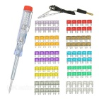 IZTOSS 2~35A Small Car Auto Blade Fuses Assortment Box Kit w/ Electroprobe (100pcs)