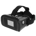 Virtual Reality 3D Glasses + Bluetooth Gamepad Selfie Remote Shutter - Black