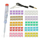 IZTOSS 2~35A Mini Car Auto Blade Fuses Assortment Box Kit w/ Electroprobe (100pcs)