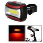 Bicycle COB 3-Mode Red + White Light Lamp w/ Clip (3 x AAA)