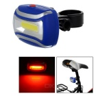 Bicycle COB 3-Mode Red + White Light Lamp w/ Clip - Blue + Silver (3 x AAA)