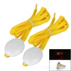 3-Mode Yellow Light Flashing LED Shoelaces Shoestrings for Night Running / Cycling - Yellow (Pair)
