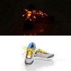 3-Mode Yellow Light Flashing LED Shoelaces for Cycling - Yellow (Pair)