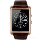 F8 Square Dial Business Smart Watch Phone w/ Bluetooth Call SMS QQ WeChat Pedometer Sleep Monitoring