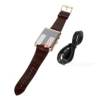 F8 Square Dial Smart Watch Phone w/ BT Call SMS, Sleep Monitoring