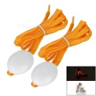 3-Mode Orange Light Flashing LED Shoelaces Shoestrings for Night Running / Cycling - Orange (Pair)