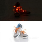 3-Mode Orange Light Flashing LED Shoelaces for Cycling - Orange (Pair)