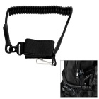 EDCGEAR MOLLE Outdoor Tactical Anti-Lost Pistol Handgun Gun Spring Lanyard Sling Strap - Black