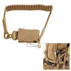 EDCGEAR MOLLE Outdoor Tactical Anti-Lost Pistol Handgun Gun Spring Lanyard Sling Strap - Sand Color