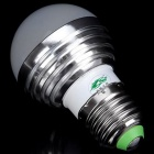 Zweihnder E27 3W RGB Light LED Globe Bulb w/ Remote - Silver + White