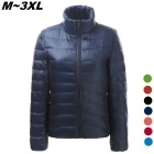 Women's Ultra Light Thin Down Jacket Coat - Navy Blue (L)