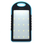 5000mAh Camping LED Light / Power Charger Mobile Power Bank w/ LED Indicator - Black + Blue