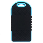 5000mAh Camping LED Light / Power Bank w/ LED Indicator - Black + Blue