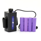 NITEFIRE Water-Resistant Battery Holder Case Box w/ 4 18650 Batteries for Bike Light / Cellphones