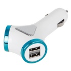 4-USB Car Y-type Smart Power Adapter Charger - Blue (12~24V)