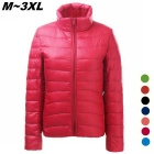 Women's Ultra Light Thin Down Jacket Coat - Red (L)