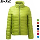 Women's Ultra Light Thin Down Jacket Coat - Green (XXXL)