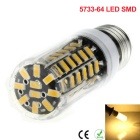 E27 9W LED Corn Bulb Warm White Light 800lm 64-5733 w/ Heat Shield