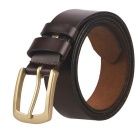 Fanshimite ZK01 Men's Pin Buckle Leather Belt - Brown (125cm)