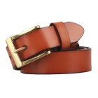 Couro Masculina ZK01 Fanshimite Pin Buckle Belt - Orange (115 centímetros)