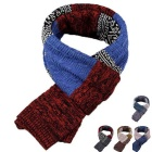 Hit Color National Style Knitwear Scarf