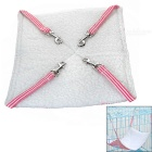 Small Soft Canvas Pet Hammock for Cat - Pink + White