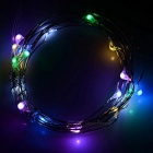 1W 60lm luz colorida 20-LED Festival festa natalícia decorativa Cordas Light (4.5V / 2m)