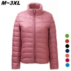 Women's Ultra Light Thin Down Jacket Coat - Pink (XXL)