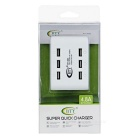 BTY 5V / 4.8A 6-USB port Fast Charger Power Adapter-White (USA Zátky)