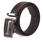 Fanshimite J22 Men's Automatic Buckle Leather Belt - Brown (110cm)