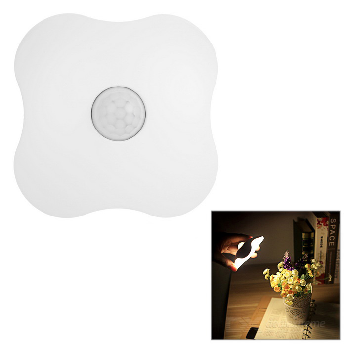 0.7W Rechargeable Four Leaf Clover Shaped Human Body Inductive Light Control Night Light (DC 5V)