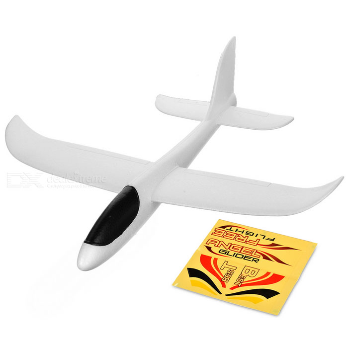 FX FX-702 Hand-Throwing Glider Airplane Toy w/ Sticker - White