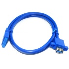 USB3.0 Front Panel 19-Pin to Single Port Standard A Female Cable w/ Screw Hole - Sky Blue (0.8m)