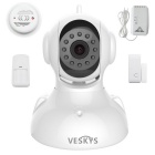 VESKYS 1.0MP HD Wireless Linkage Alarm Security System / IP Camera + 4 Alarm Sensor for Smartphone