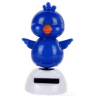 Solar Powered Cute Dancing Chick Home Desk Table Decoration Car Decor - Blue + White