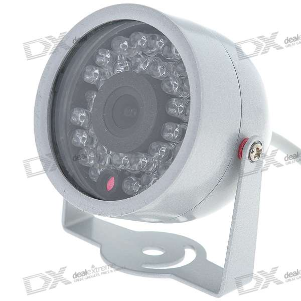 Mini CMOS Surveillance Security Camera with 30-LED Night Vision (DC 12V)