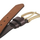 Fanshimite ZK01 Men's Pin Buckle Leather Belt - Brown (110cm)