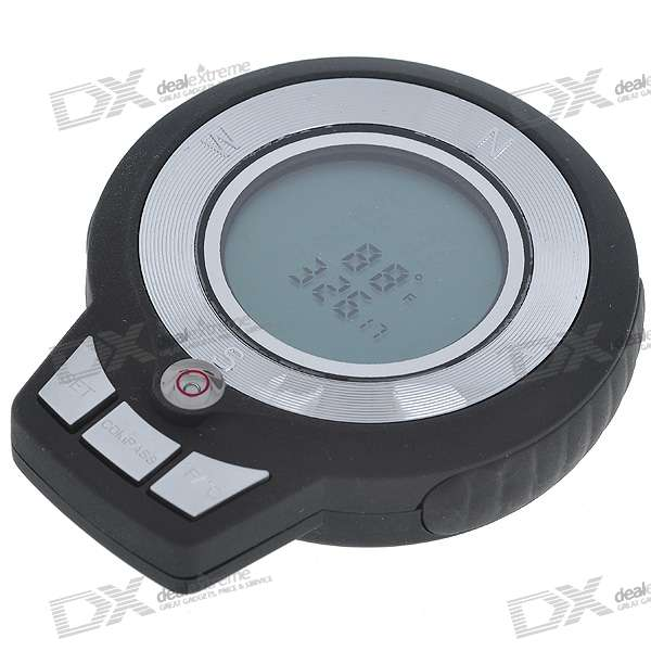 1.4 LCD Digital Compass Clock + Temperature + Stopwatch + Count (1*AAA)