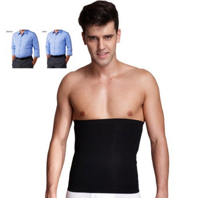 Body Shaper Men's Slimming Waist Trimmer Belt - Black (L)