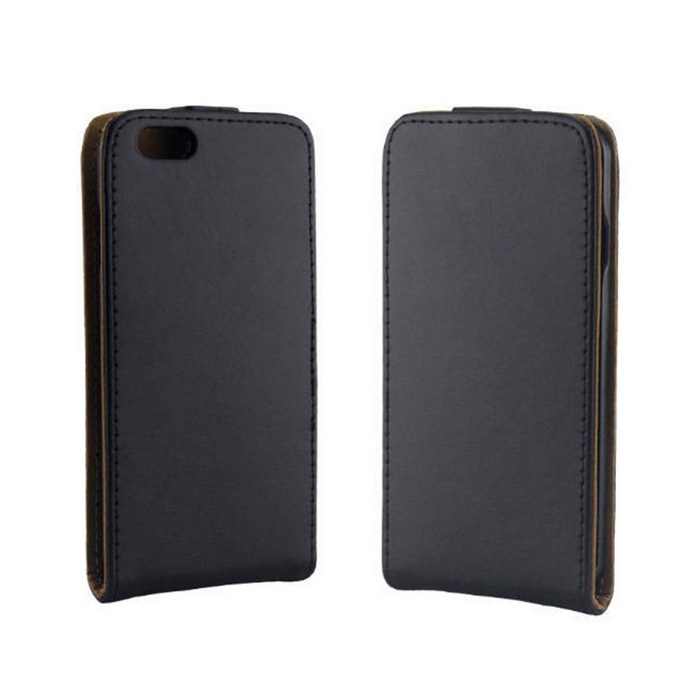 Flip Vertical Up and Down Open PU Leather Case Cover for IPHONE 6 - Black