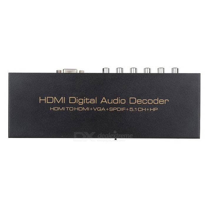 decoder audio HDMI a HDMI, VGA, SPDIF, adattatore audio surround 5.1