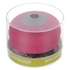 Bluetooth V3.0 Waterproof Speaker w/ Suction Cup - Deep Pink + Grey