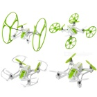 UDIR/C U941 2.4GHz 4-CH Flying Running Wall Climbing R/C Stunt Quadcopter Drone - Green + White