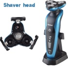 KEMEI 3-in-1 Rechargeable Triple Blade Electric Shavor - Blue